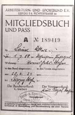 Mitgliedsbuch von Robert Laux