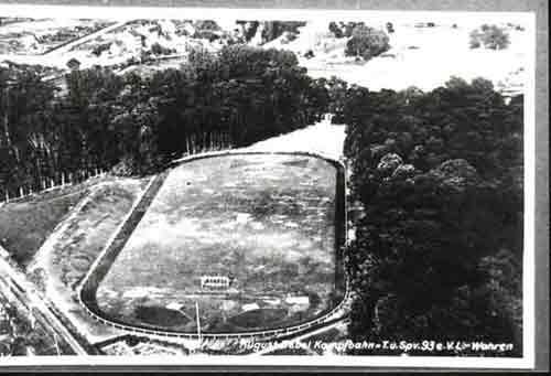 Luftbild der August-Bebel-Kampfbahn nach Fertigstellung 1930